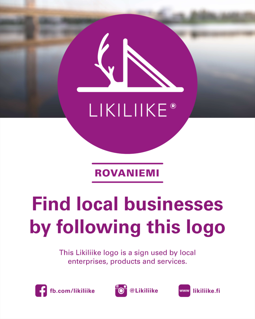 Find local businesses by following this logo